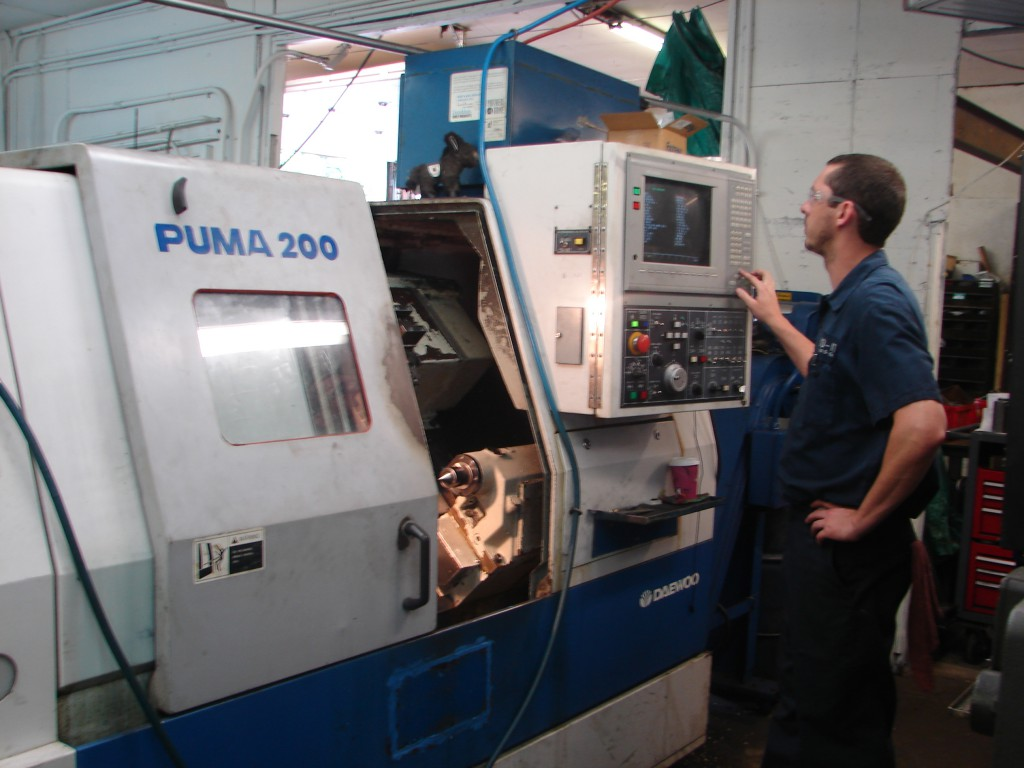 CNC Lathe programmed and operated by Travis Cagley